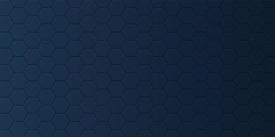 Banner with hexagonal pattern vector