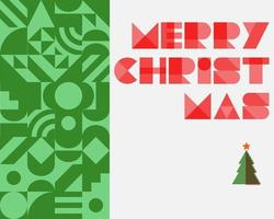 Christmas abstract background with christmas tree