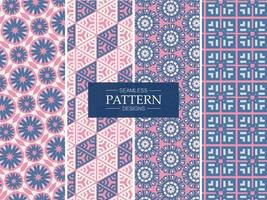 Pink and Blue Seamless Patterns