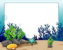 Boordmotief met onderwater scène