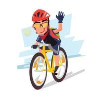 Un hombre es ciclismo