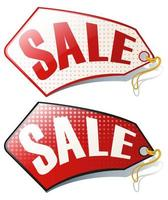 Label design with sale tag vector