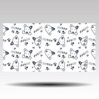 Dog cartoon pattern with Love me love my dog text