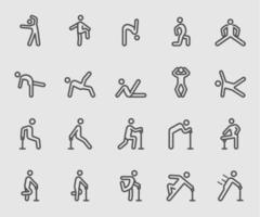 Icône de ligne d'exercice du corps