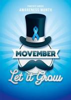 Movember Banner per il mese di sensibilizzazione sul cancro alla prostata