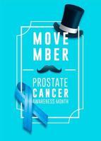 Cartel del mes de concientización sobre el cáncer de próstata Movember