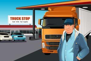 O motorista do caminhão