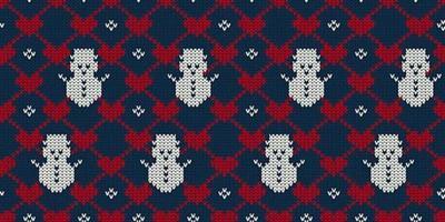 Weihnachtsnahtloser gestrickter Musterhintergrund