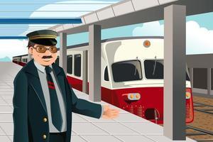 O condutor do trem
