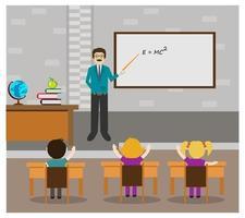 En lärare lär klass