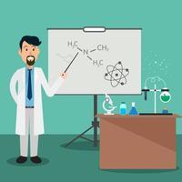 Un químico enseña