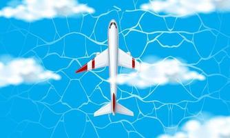 Vista aérea do avião