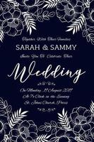 Hand Drawn Floral Wedding Invitation Card