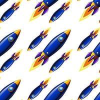 Fumetto senza cuciture delle mattonelle del modello con i razzi
