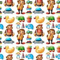 Seamless pattern tile cartoon with toys