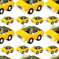 Seamless pattern tile cartoon with toy car