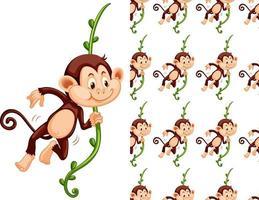 Nahtloser und lokalisierter Affe auf Rebmuster
