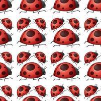 Seamless and isolated ladybug pattern