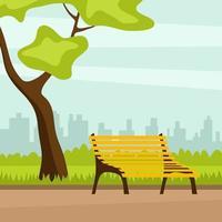 Una Panchina In Un Parco