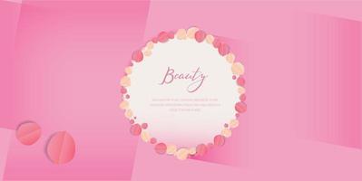Design de fundo rosa beleza vetor