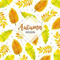 Fall Leaves Watercolor Background