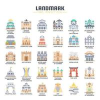 Landmark Flat Color Icons