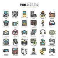 Videospiele Thin Line Icons