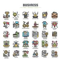 Business Elements dünne Linie Icons