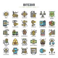 Bitcoin Elements  Thin Line  Icons