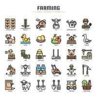 Farming Thin Line Icons