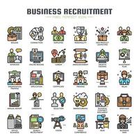 Business Recruitment Thin Line Color Icons