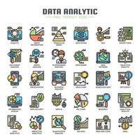 Data Analytic Thin Line Icons