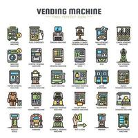 Vending Machine Thin Line Icons