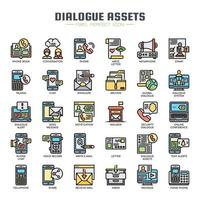 Dialogue Assets Thin Line Icons