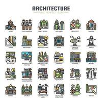 Architecture Thin Line Color Icons