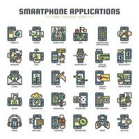 Smartphone application Thin Line Icons