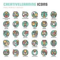 Creative Learning Thin Line Icons
