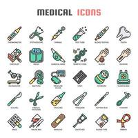 Medical Elements Thin Line y Pixel Perfect Icons