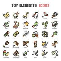 Icone di colore di Toy Elements Thin Line