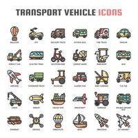Véhicule de transport, Thin Line et Pixel Perfect Icons