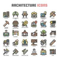 Architecture Thin Line Icons