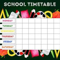 Back To School Stundenplan