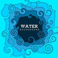 Nature Water Background with Paper Cut out effect