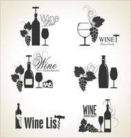 Eleganti etichette di vini