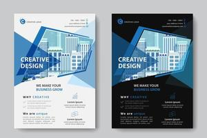 Geometric Shape Cutout Corporate Business Template