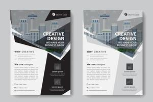Black and Gray Angled Corporate Business Template