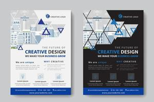 Triangle Cutout Corporate Business Template