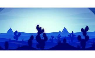 Pôr do sol no deserto azul