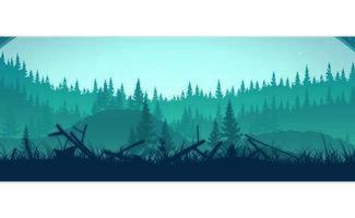 Floresta no nevoeiro