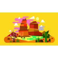 A cena colorida da paisagem das rochas